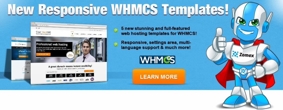 fully responsive whmcs templates