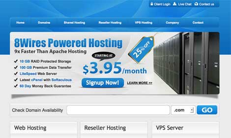 custom web hosting design