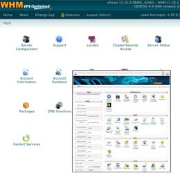 cPanel and WHM control panel
