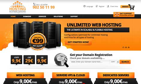 complete web hosting website