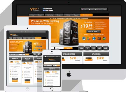 responsive whmcs template