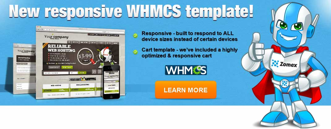 fully responsive whmcs template