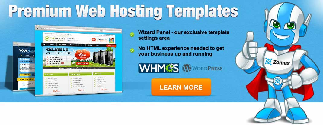 premium web hosting templates
