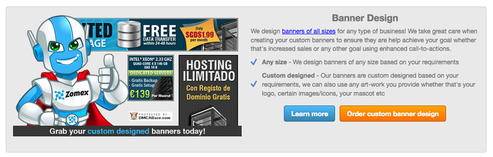 banner design affiliates integration