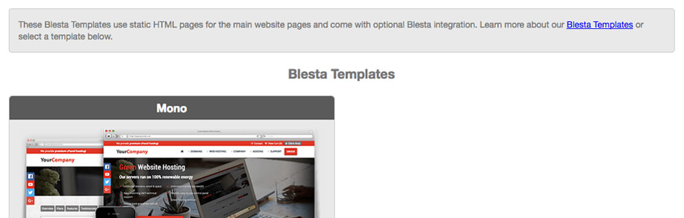 blesta templates affiliates integration