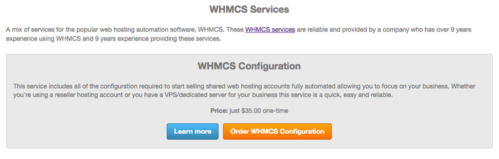 whmcs services affiliates integration
