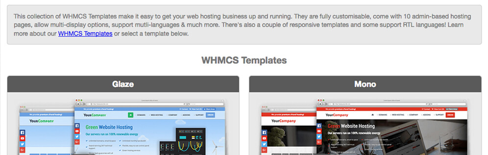 whmcs templates affiliates integration