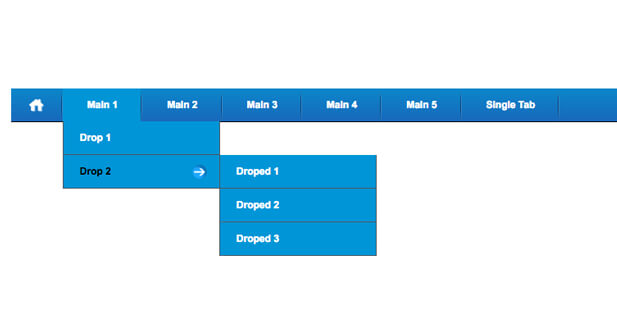 css multi level dropdown menu