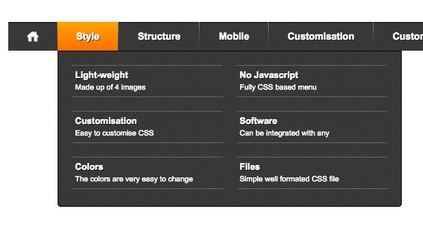 CSS Mega Menu Script