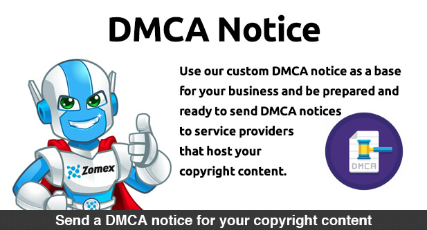 DMCA Notice document template