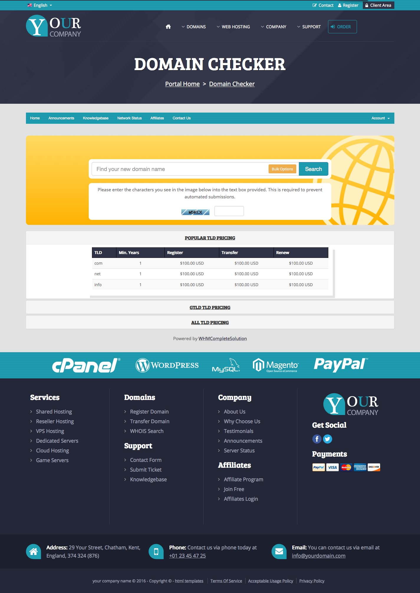 Html Template For Web Hosting Providers A Highly Professional