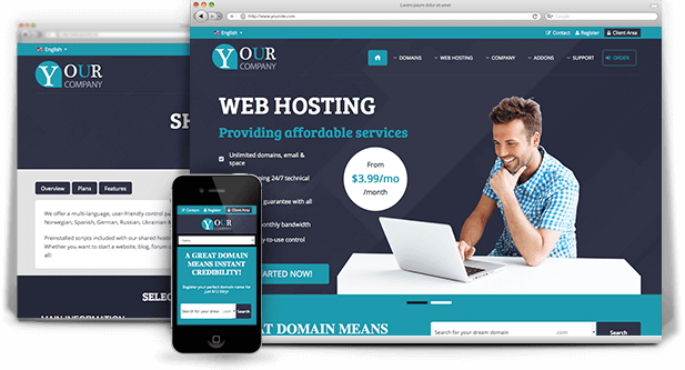 blue php whmcs template