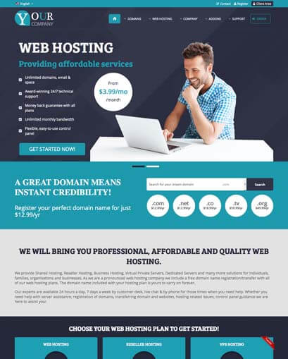 Responsive WHMCS Theme for V7.6 ~ Fusion is a premium WHMCS template ...