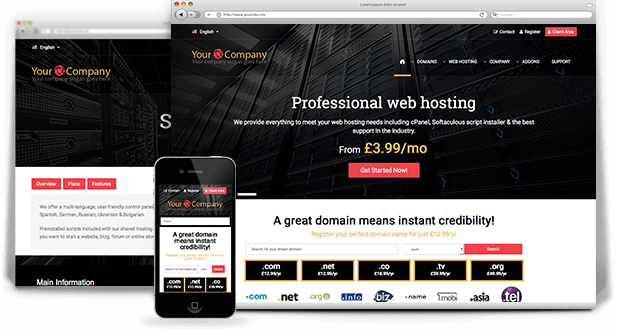 galaxy php web hosting template