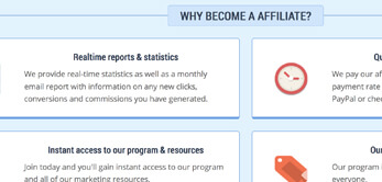 WHMCS Template custom affiliate program page