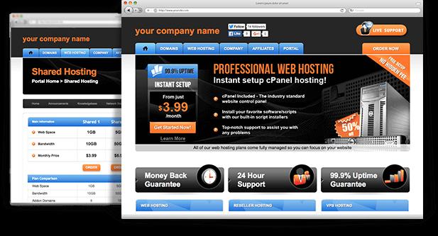WHMCS Template - Orange Fusion | A stunning admin-based web hosting ...