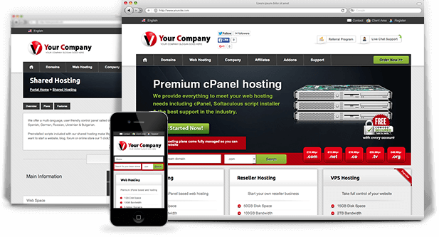 popular responsive wordpress web hosting theme