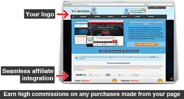 partner page affiliate integration