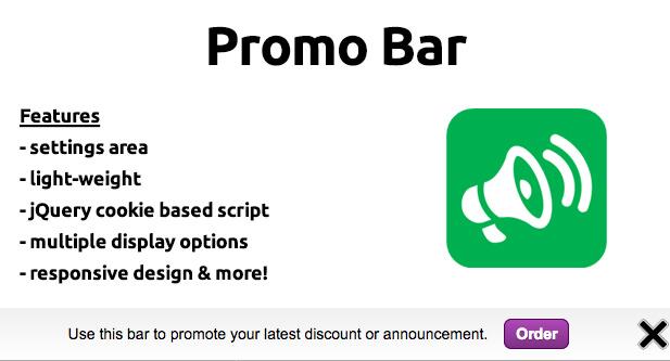 Promo Bar Script
