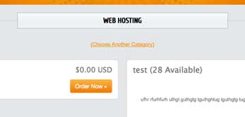 HTML Slick Host WHMCS Integration - cart