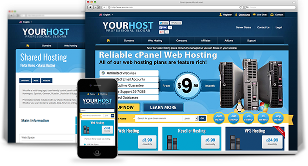 responsive wordpress web hosting theme