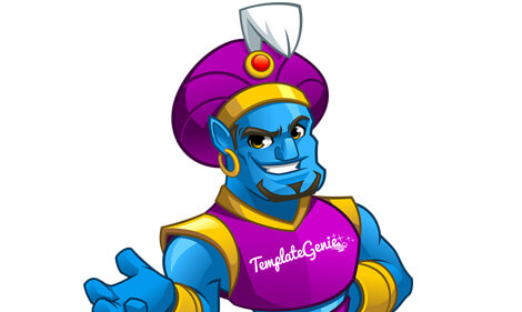 TemplateGenie mascot design