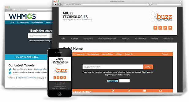Responsive WHMCS Integration