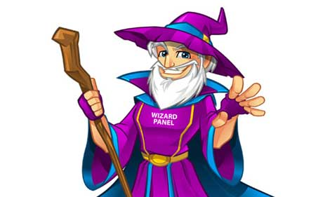 Wizard Panel mascot design