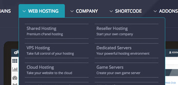 WordPress Theme 1-10 web hosting plans