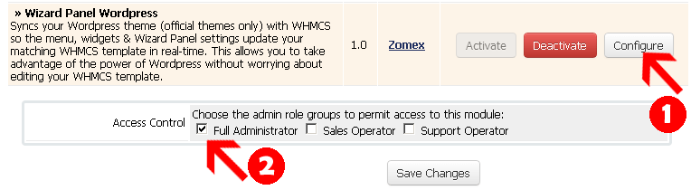 WHMCS template package