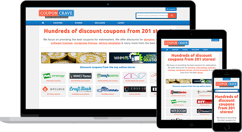 web design CouponCrave