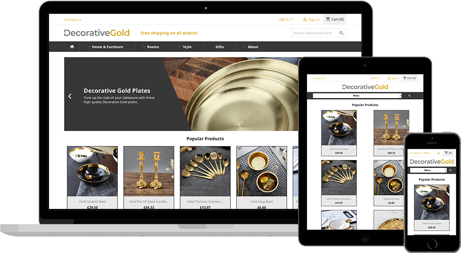 web design Decorative Gold