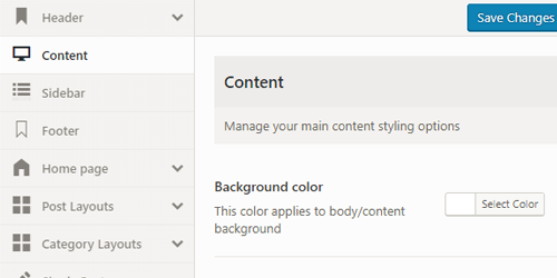 WordPress theme options